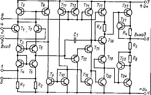 схема ОУ типа 140УД12